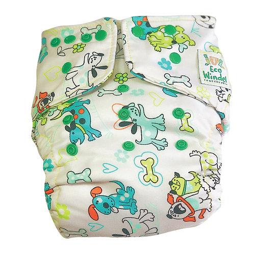 Pañal Perritos felices + inserto absorbente