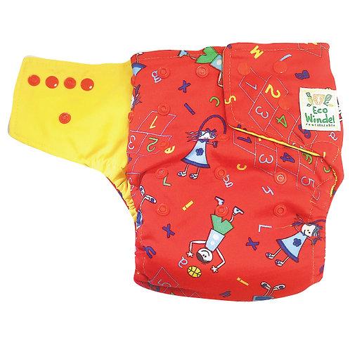 Pañal Niños rojo + inserto absorbente