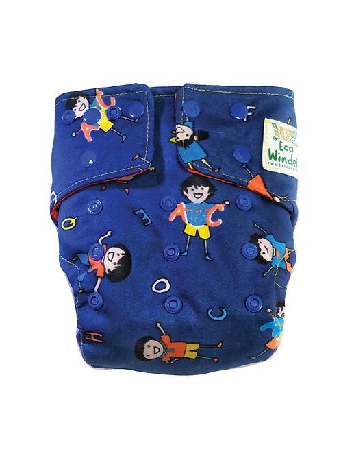 Pañal Niños y niñas azul + inserto absorbente