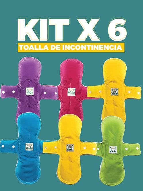 Kit x 6 Toallas de incontinencia urinaria