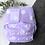 Thumbnail: Pañal lila con bolitas blancas + inserto absorbente