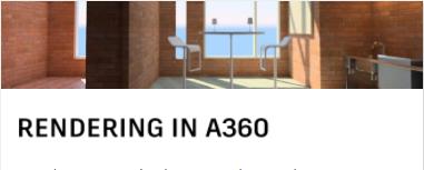 RENDERING IN A360