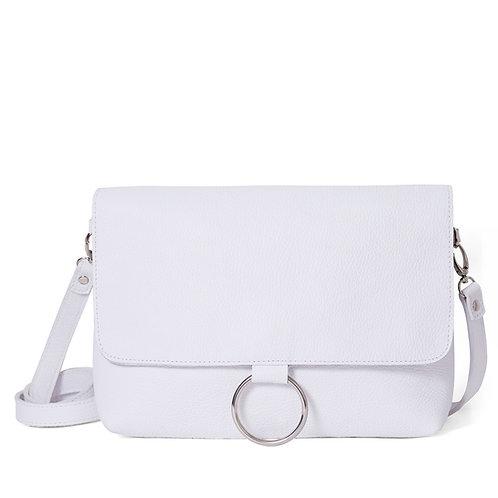 White Ring Detail Shoulder Bag/Clutch
