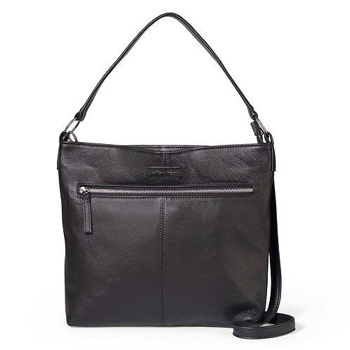Black Spacious Shoulder/Crossbody Bag