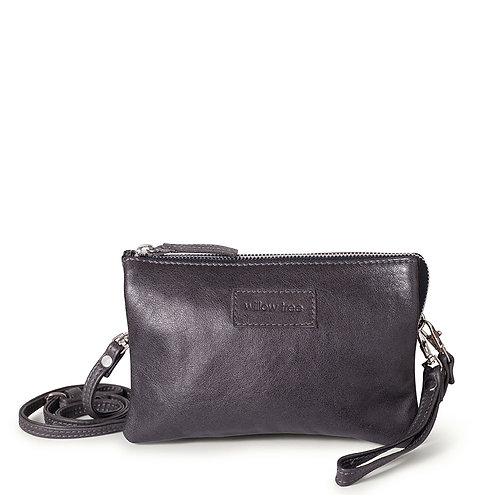 Charcoal Mini Sling Wallet and Clutch Bag