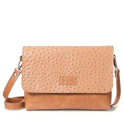 Hazel Ostrich Design Shoulder Bag/Clutch
