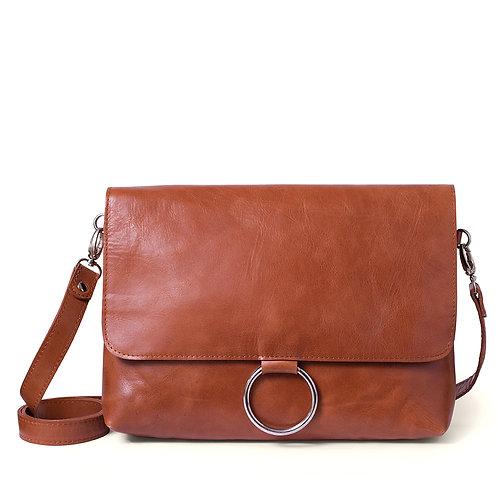 Tan Ring Detail Shoulder Bag/Clutch