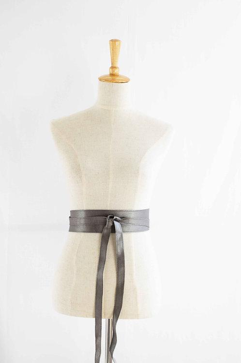 Pewter Wrap Tie Belt