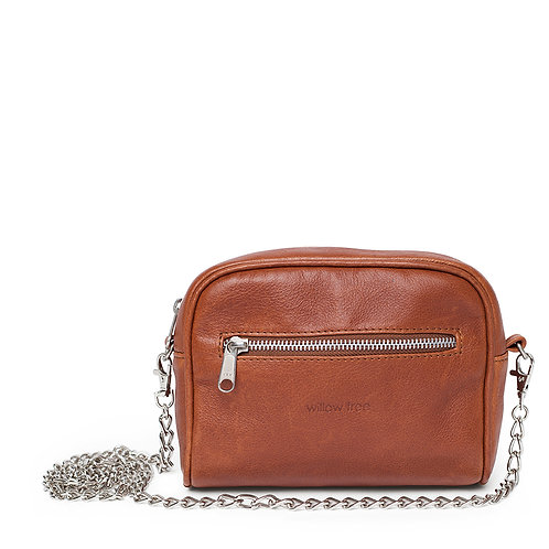 Tan Belt Bag and Chain Sling