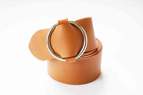 Tan Ring Detail Belt