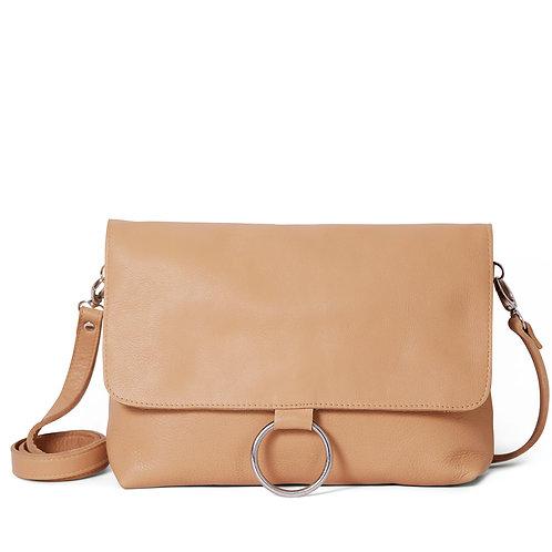 Caramel Ring Detail Shoulder Bag/Clutch
