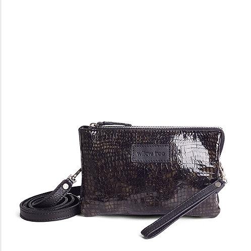 Black Snakeskin print Mini Sling Wallet, Clutch, Sling