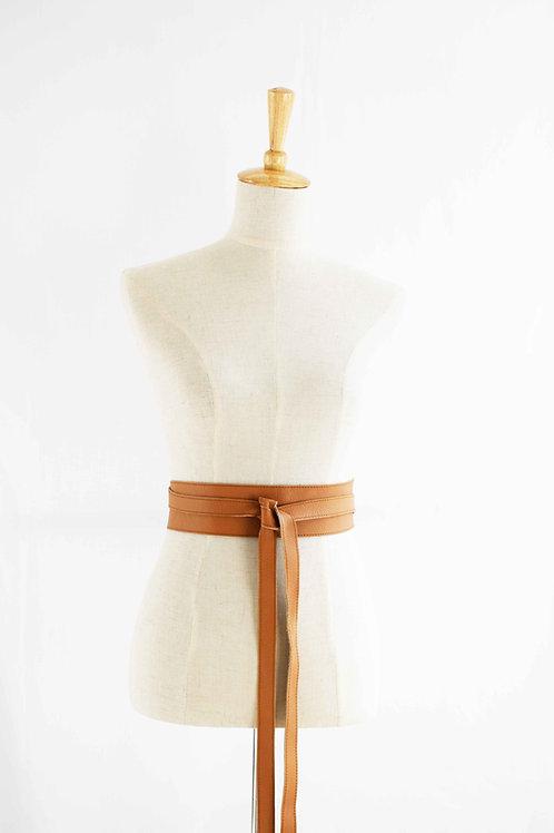 Light Tan Wrap Tie Belt