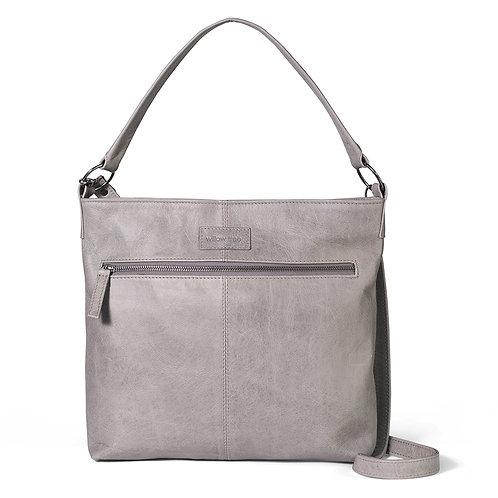 Grey Spacious Shoulder/Crossbody Bag