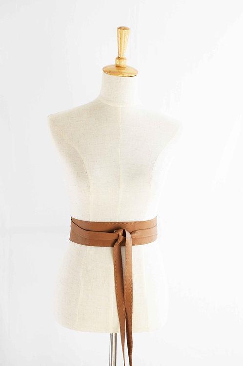 Coffee Wrap Tie Belt