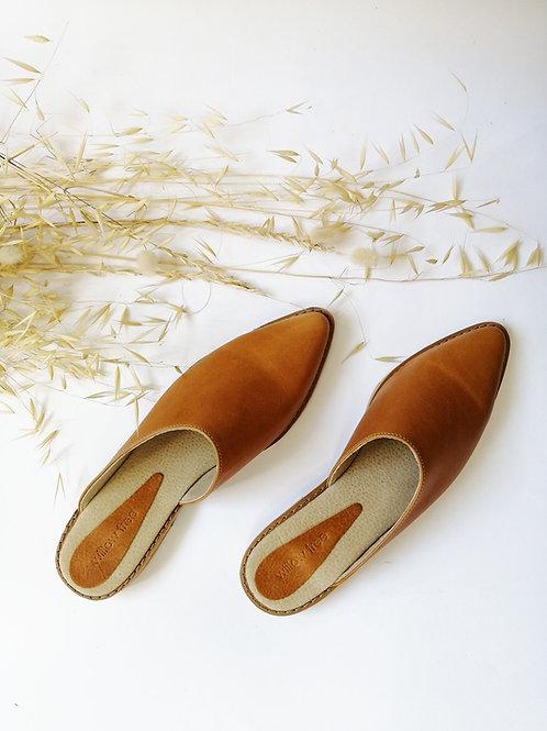 Leather Mules - Light Tan