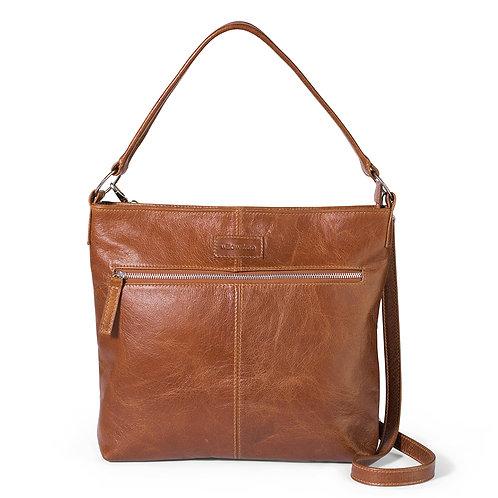 Tan Spacious Shoulder/Crossbody Bag