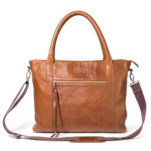 Large Tan Deluxe Tote