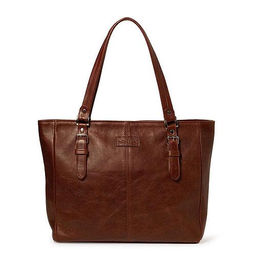 Brown Shoulder Buckle Detail Bag