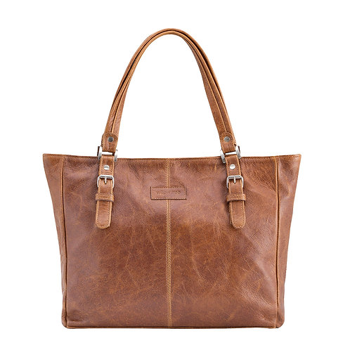 Pecan Shoulder Buckle Detail Bag