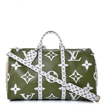 Louis Vuitton Giant Monogram Keepall Bandouliere 50