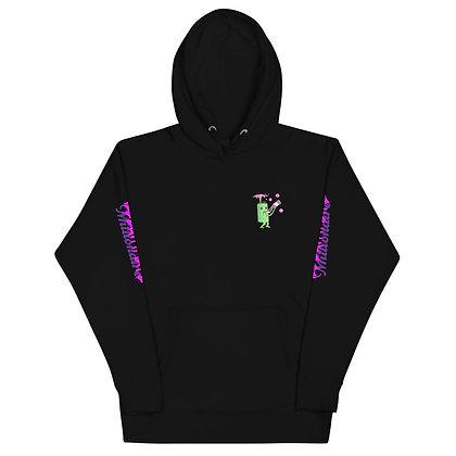 Logo Name Sleeve Hoodie (Black)