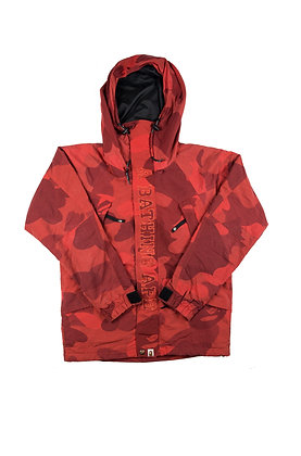Bape Red Camo Snowboard Jacket