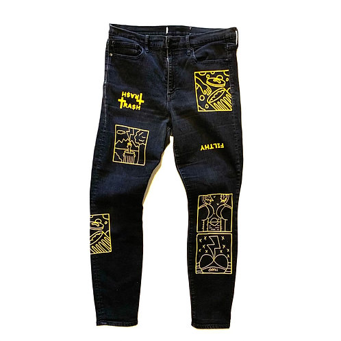 1/1 Black Denim Jeans