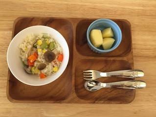奶香雞翅五色蔬菜炊飯
