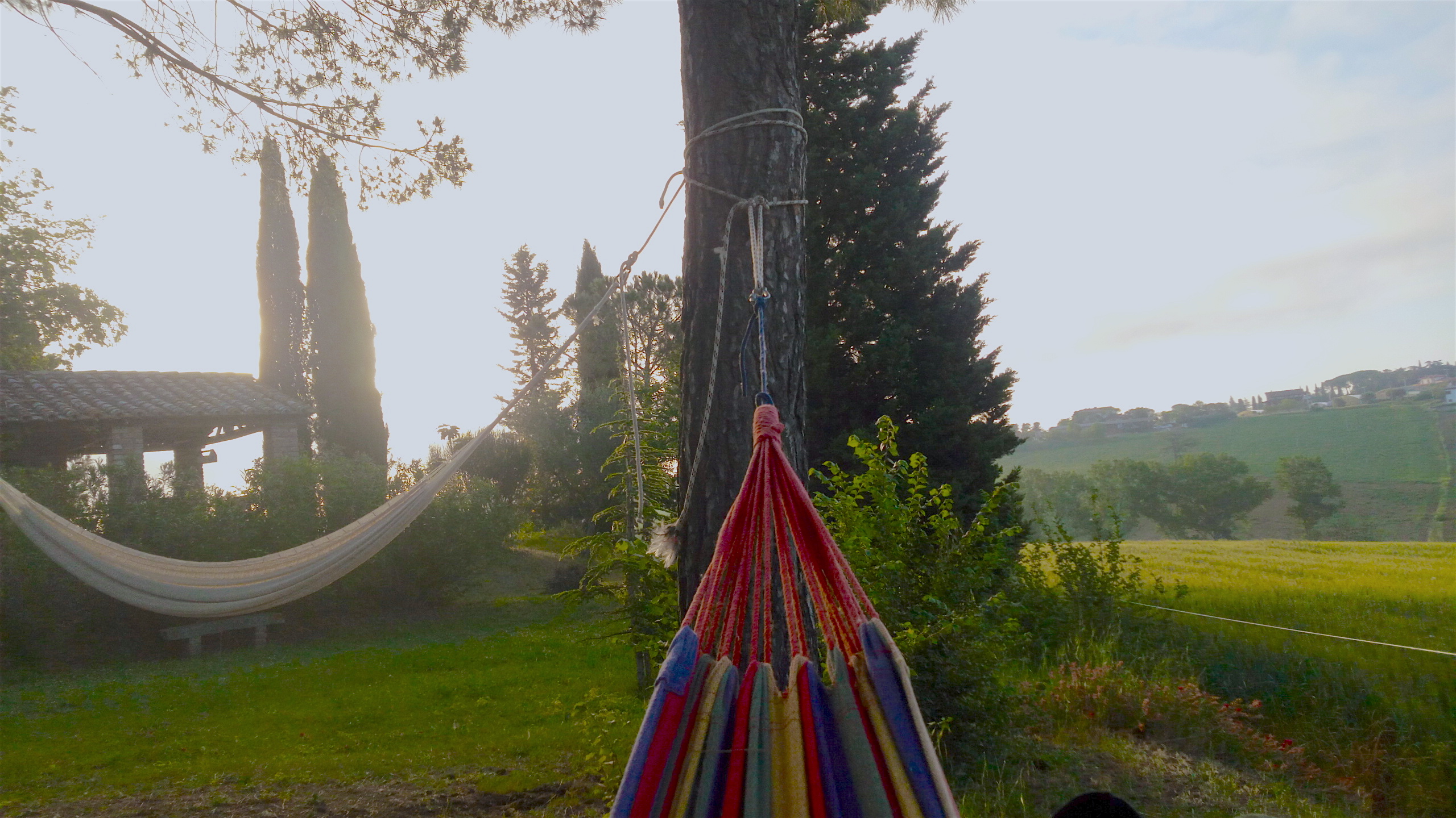 Relax  and  hammocks near Tuscany