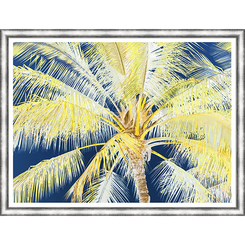 Tropical Palm in Yellow & Blue