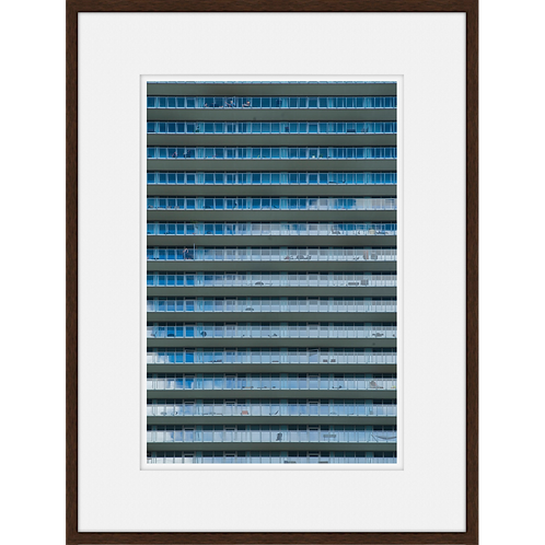 Graphic Buildingscape in Blue