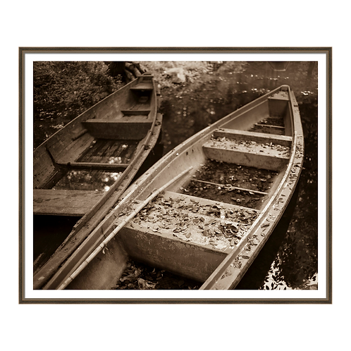 Bygone Rowboats I in Sepia