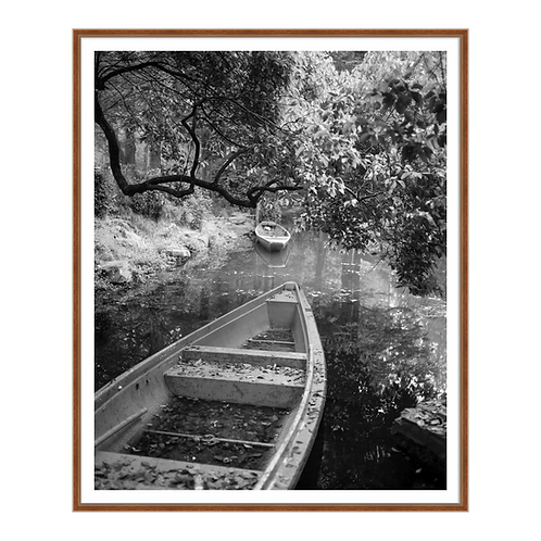 Bygone Rowboats II in Black and White