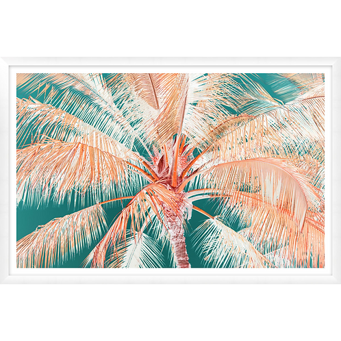 Tropical Palm in Orange & Green