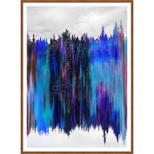 Reflective Treescape in Blue