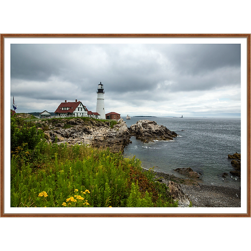 Rocky Shore and Lighthouse I