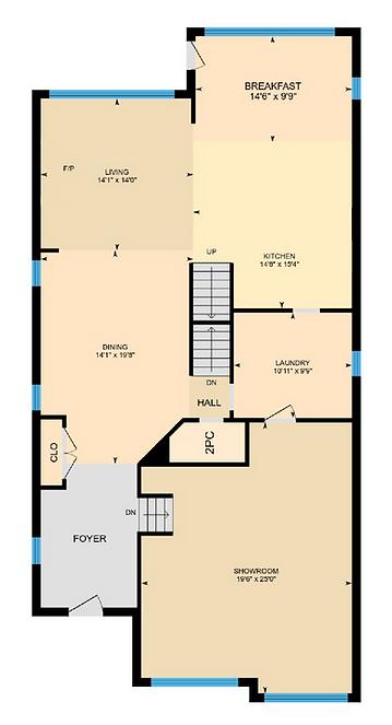 standard view of an iGUIDE floor plan
