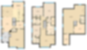 various color versions of the iGUIDE Floor Plan