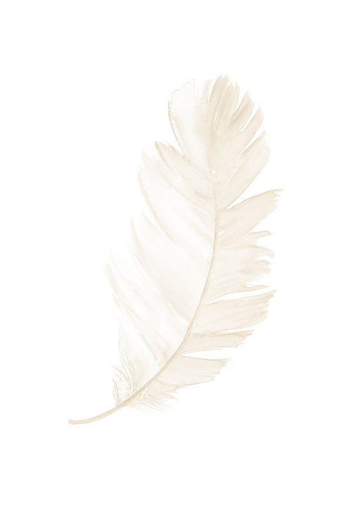single-gold-feather-upright-leaning-righ