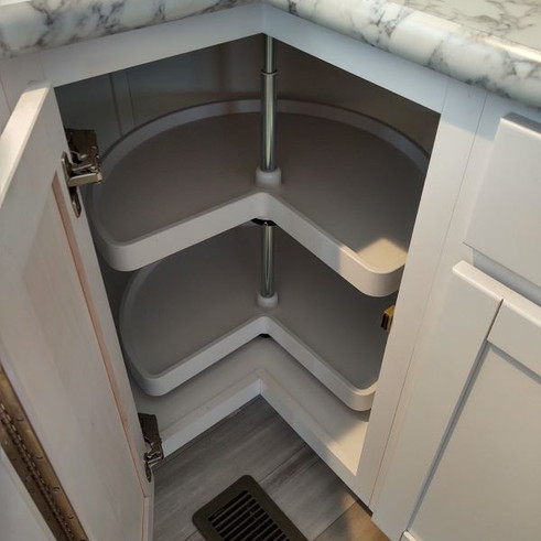 Lazy Susan in lower cabinet