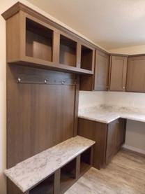 Bench & storage in utlity room