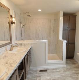 "72"" Ceramic Shower in Master Bath"