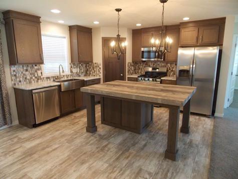 Kitchen w/Farmhouse Sink & SS Appliances