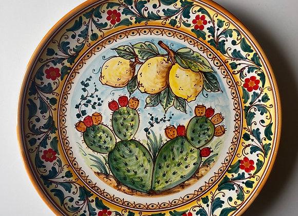 Plato grande fichi y limones