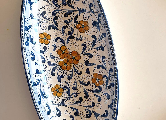 Canoa frutero de cerámica