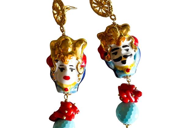 Teste di moro earrings