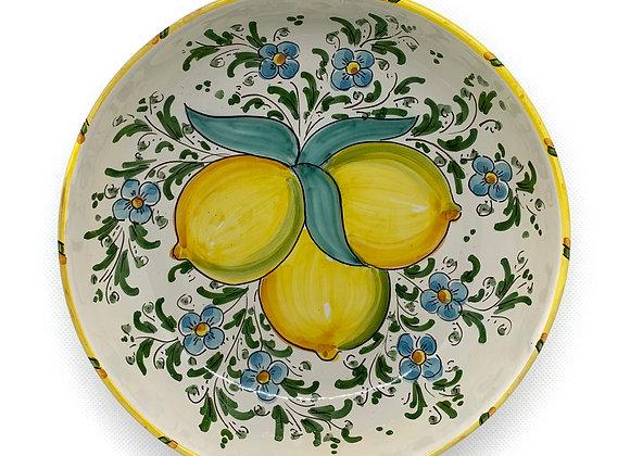 Plato hondo limones