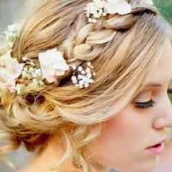 wedding blond hair