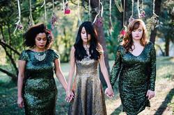 weddings photo shoot 3 girls & ribbons